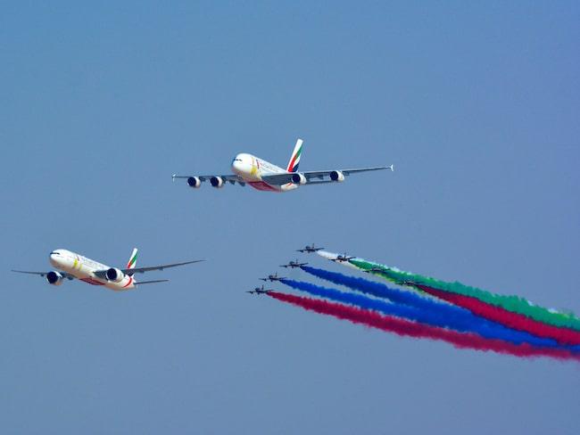 Flygbolaget gick ut med nyheten på Dubai Air Show och i sociala medier i helgen.