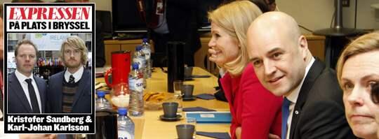 Fredrik Reinfeldt på plats i Bryssel. Foto: Kristofer Sandberg