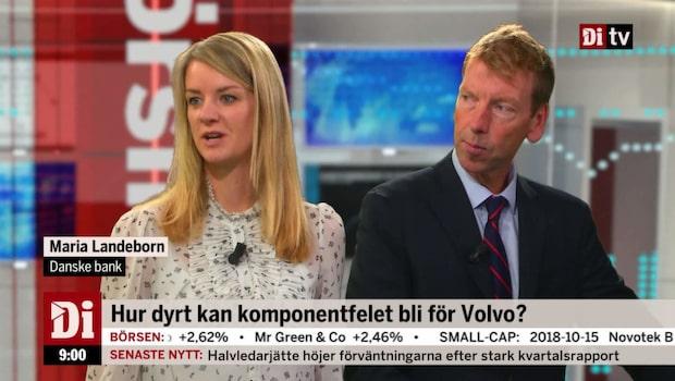 Hur dyrt blir komponentfelet för Volvo?