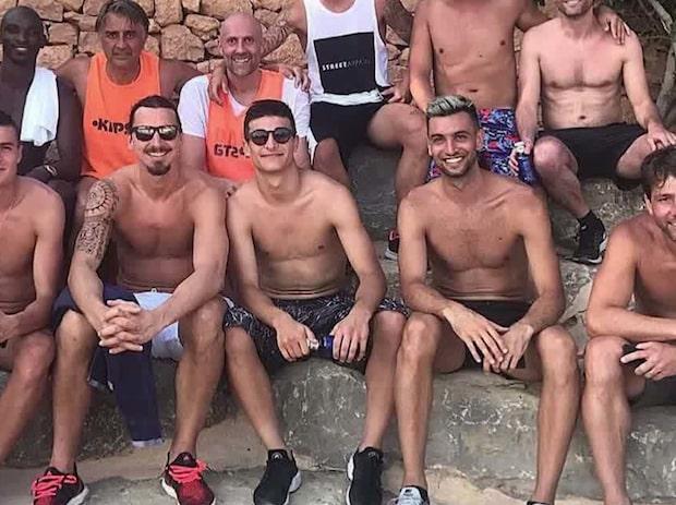 Zlatans stjärnsemester på Ibiza fångad på bild