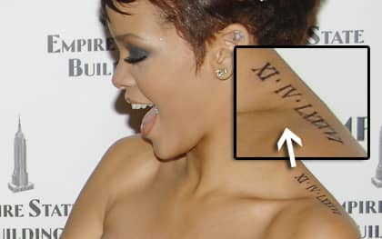 """Det var i amerikanska talkshowen """"Today show"""" som Rihanna visade sin senaste tatuering."""