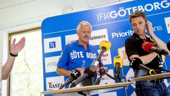 Även IFK Göteborg höll pressträff. Foto: ADAM IHSE/TT
