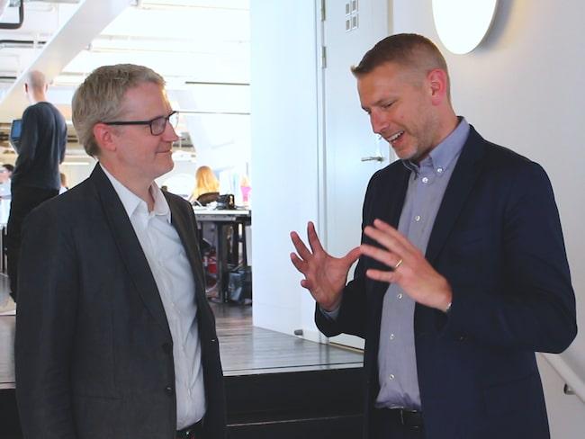 Vi träffar Northvolts grundare Peter Carlsson på kontoret i centrala Stockholm.
