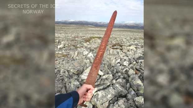 Välbevarat vikingasvärd har hittats i Norge