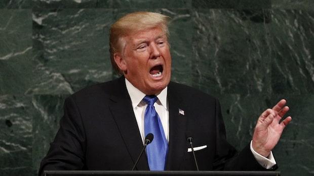 Trump riktade nytt hot mot Kim Jong-Un