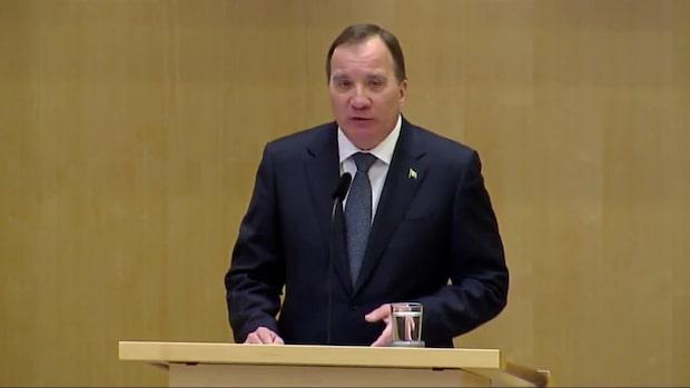 Här är Stefan Löfvens regeringsförklaring