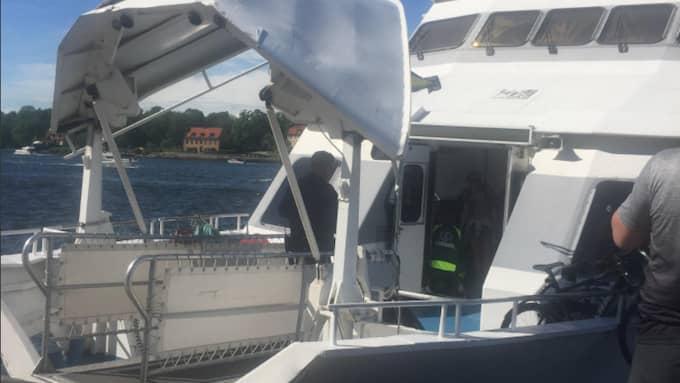 Det var runt 230 personer ombord. Foto: Läsarbild