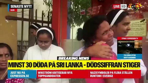 Dödssiffran stiger efter explosionerna i Sri Lanka
