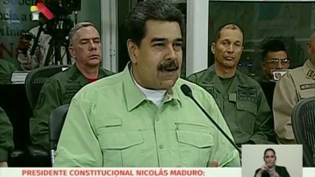 Maduro stänger gränsen mot Brasilien
