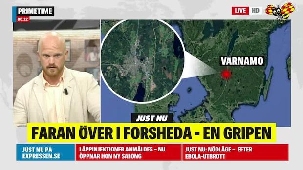 Faran över i Forsheda – en person gripen