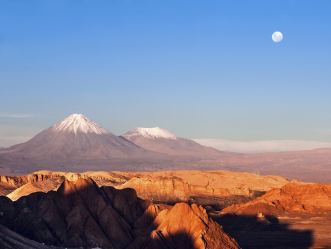 <span>Atacamaöknen är en av de torraste platserna i världen.</span>
