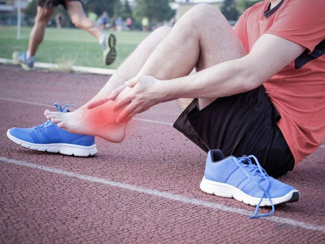 ont ovansida fot löpning