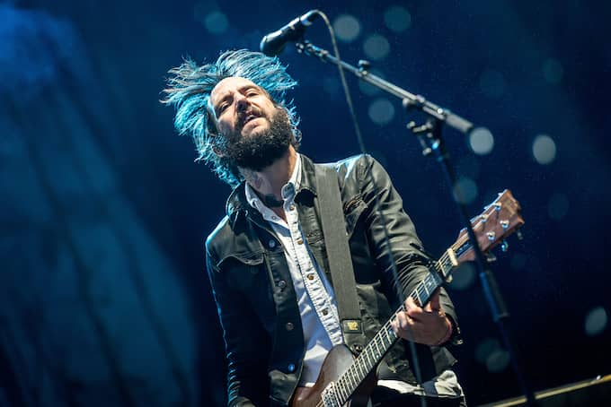 Ben Bridwell i Band of Horses på Way Out West. Foto: (C) PELLE T NILSSON / (C) PELLE T NILSSON/STELLA PICTU STELLA PICTURES