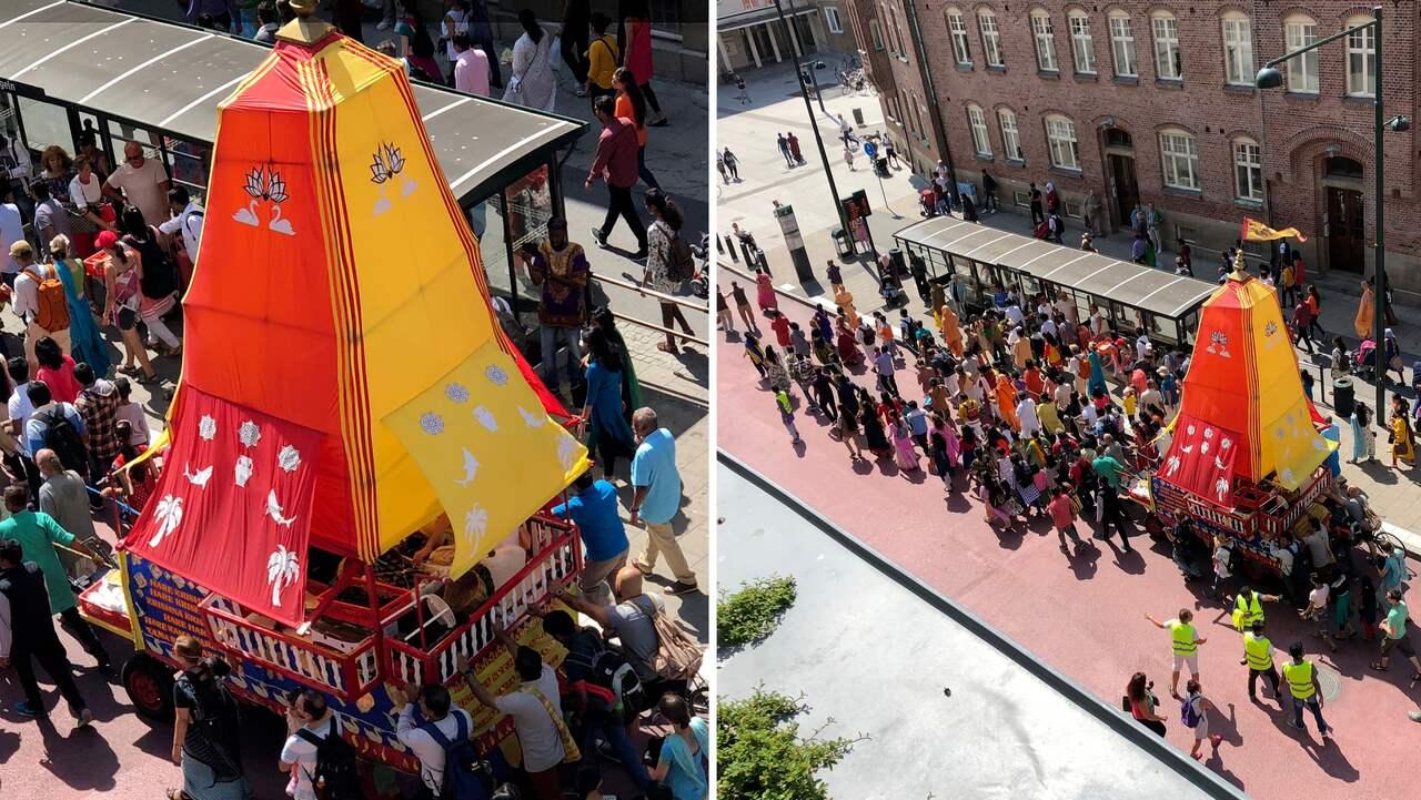 Indisk festival intog Malmö på söndagen