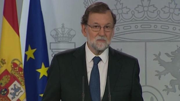 Spanska regeringen vill avsätta Kataloniens Carles Puigdemont