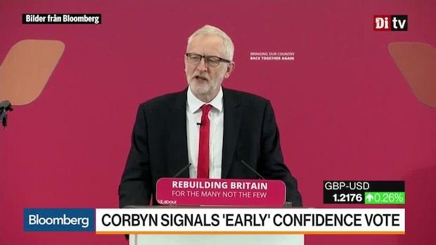 Världens affärer 13:30 - Corbyn signalerar tidig förtroenderöstning