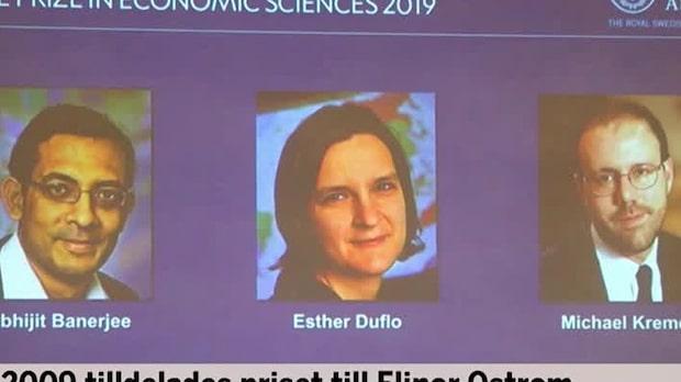 Trio tilldelas Ekonomipriset till Alfred Nobels minne