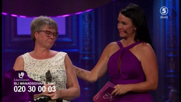 Fostermamman Ann Björkman prisades på Mammagalan