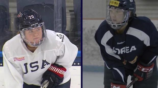 Hockeysystrarna tävlar för olika länder i OS
