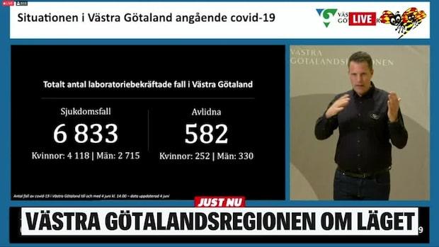 Så många nya fall har rapporterats i Västra Götaland