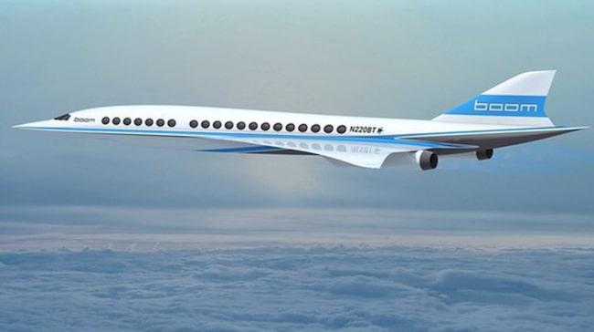 Superplanet. Överljudsplanet Boom ska flyga i 2300 km/h på 18 000 meters höjd.