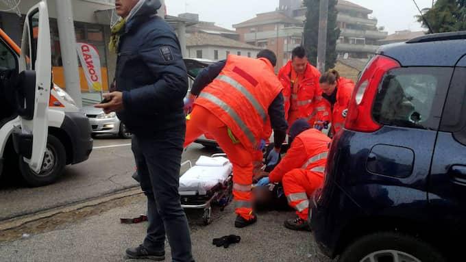 Sex personer uppges ha skadats, fyra allvarligt. Foto: GUIDO PICCHIO / EPA / TT / EPA TT NYHETSBYRÅN