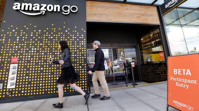 I dag är det premiär för Amazons automatiska mataffär – i e-handelsjättens hemstad, Seattle. Foto: ELAINE THOMPSON / AP TT NYHETSBYRÅN
