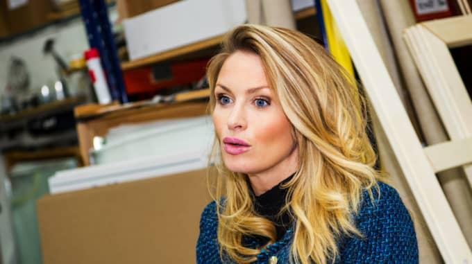 Carolina Gynning syns ofta fixad och sminkad på bild. Foto: Christian Örnberg