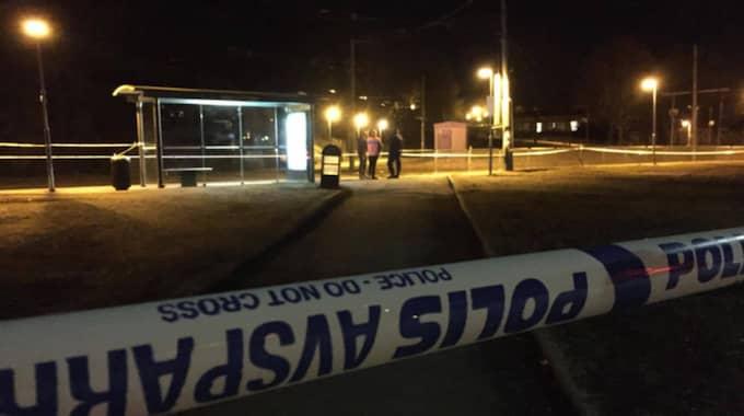 Två personer knivskadades på måndagskvällen i Göteborg. Foto: Jonathan Berntsson