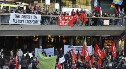 Demonstration på Sergels torg. Foto: Bertil Ericson / Scanpix