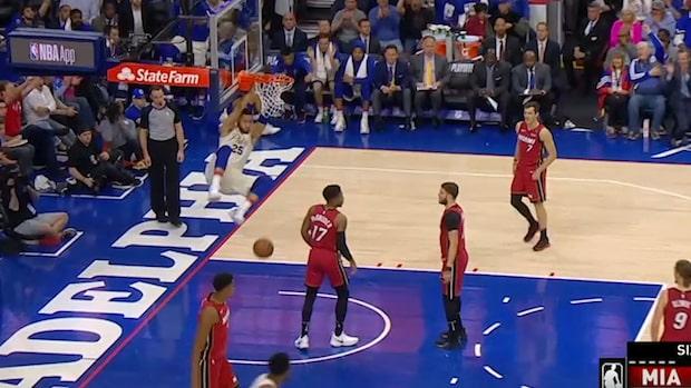 Här dunkar 76ers ut Miami ur slutspelet