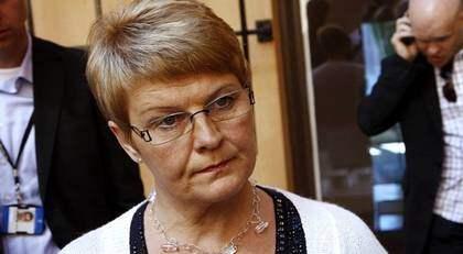 BESTÄMD. Maud Olofsson stänger dörren för nya punkter till höstens proposition. Foto: SVEN LINDWALL