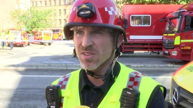 """Insatsledaren om branden: """"Omfattande skador"""""""