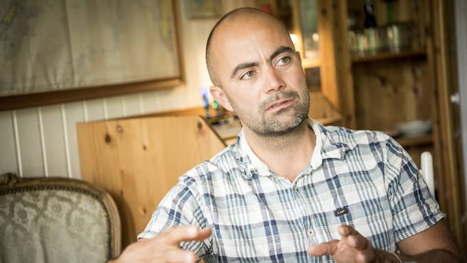 """Thomas Djursing har skrivit en bok om """"Raket-Madsen"""". Foto: CHRISTIAN ÖRNBERG"""