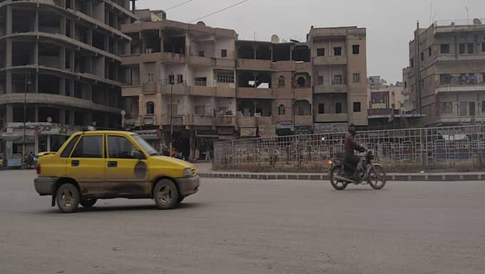 Most of the bloody and public executions take place in this roundabout. The roundabout is places in the middle of the city of al-Raqqah and was named al-Naim by the municipality. Foto: Expressen