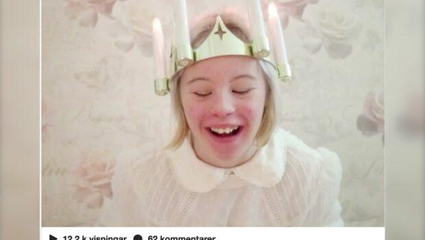 Noelle gör Lucia-succé på sociala medier