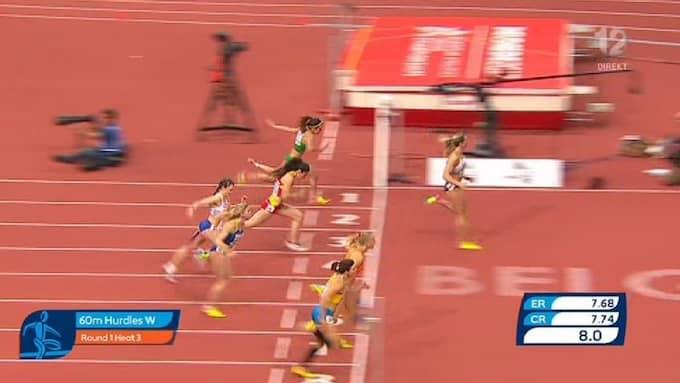 Sanna Kallur är vidare till EM-semifinal. Foto: TV 12