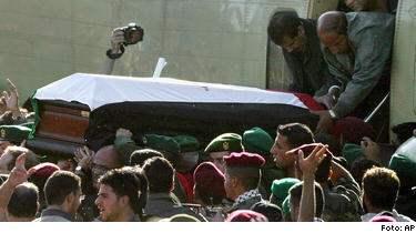 Arafats kista pa vag till ramallah
