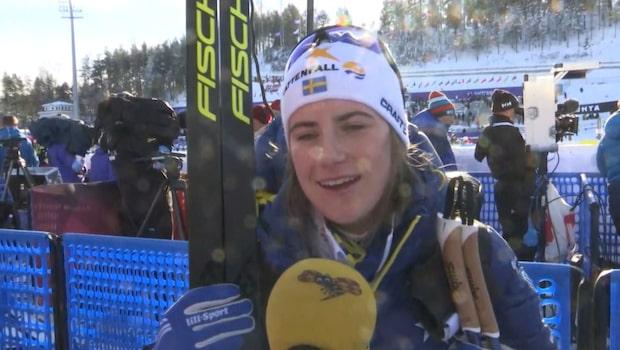 """VM-debutanten Ebba Andersson: """"Väldigt häftigt"""""""
