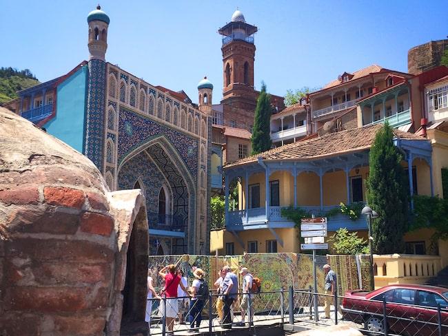 Tbilisis äldsta delar ger en känsla av Centralasien.