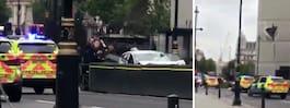Bil har kört in i brittiska parlamentet – flera skadade