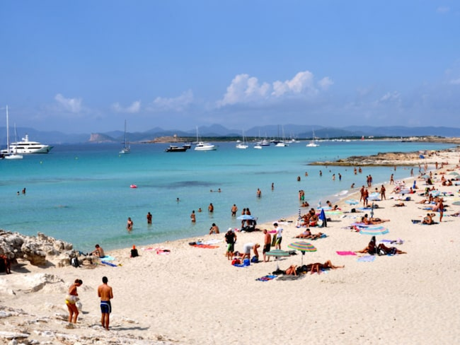 Playa de Ses Illetes på Formentera.