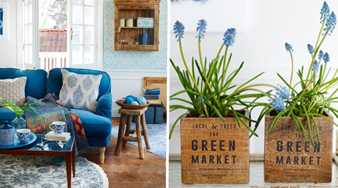 Skapa härlig vårkänsla med blå nyanser Vardagsrum Expressen Leva& bo