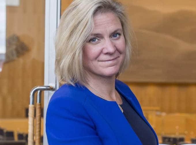 Finansminister Magdalena Anderssons statssekreterare Max Elger har skrivit ett av mejlen. Foto: Pelle T Nilsson/All Over Press