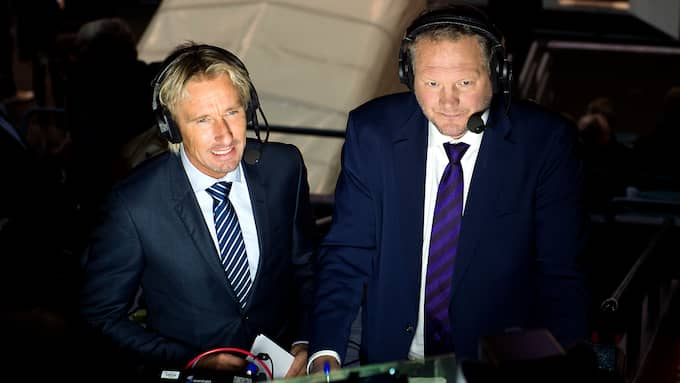 Patrik Westberg och C More-kollegan Arto Blomsten. Foto: CARL SANDIN / BILDBYRÅN