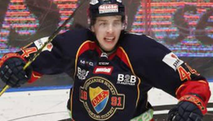 Lukas Vejdemo firar sitt mål Foto: Christine Olsson/Tt