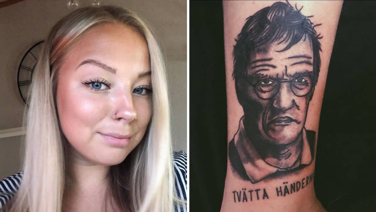 Anna Berglund Har Tatuerat In Anders Tegnell Pa Benet
