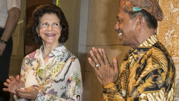 Här tjuvstartar drottning Silvia statsbesöket