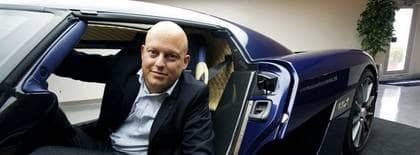 """""""Tidsfaktorn har hela tiden varit kritisk för vår strategi för att blåsa nytt liv i bolaget"""", säger Christian von Koenigsegg. Foto: Anders Andersson"""