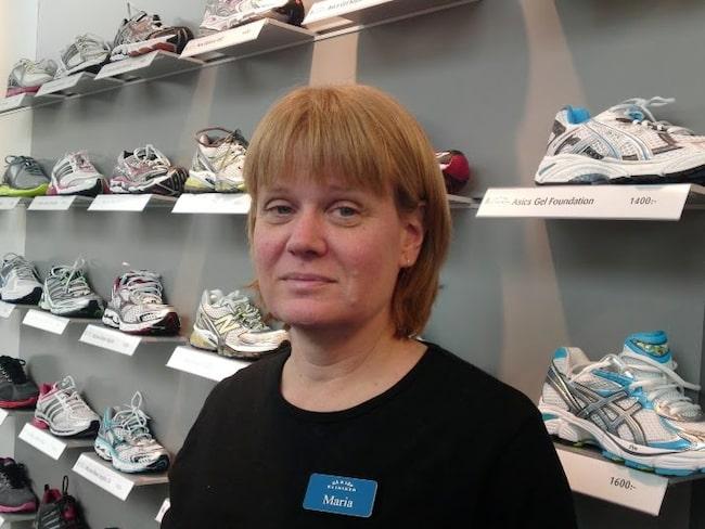 Maria Kuperion, ortopedtekniker vid Gå och löpkliniken i Stockholm.